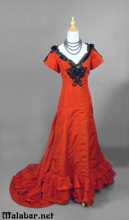 Late Victorian evening female orange.jpg