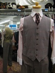 4 button suit brown plaid vest