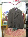4 button suit brown stripe 44