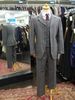 4 button suit grey check