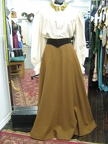 1910 blouse beige skirt lt. brown