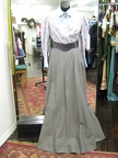 1910 blouse blue skirt grey