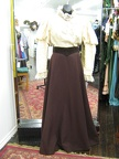 1910 blouse cream skirt brown
