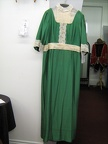 1910 dress green with lace