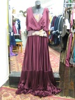 1910 dress red & gold