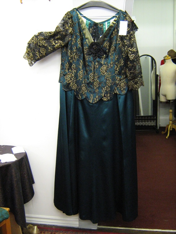 1910 dress teal plus size.jpg