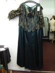 1910 dress teal plus size