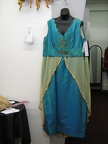 1910 dress turquoise plus size