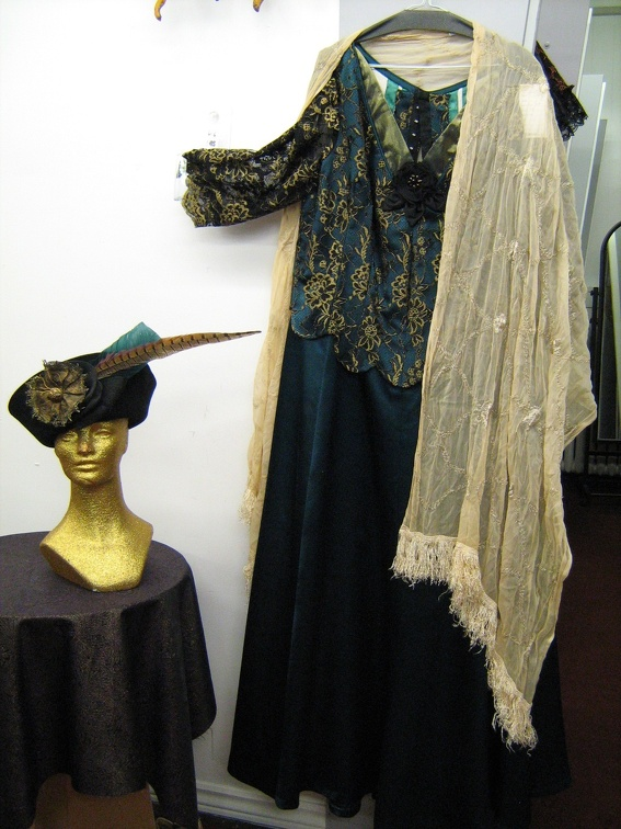1910 dress turquoise with shawl & hat.jpg