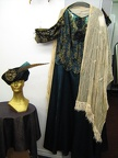 1910 dress turquoise with shawl & hat