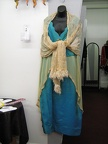 1910 dress turquoise with shawl