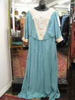 1910 gown blue with lace