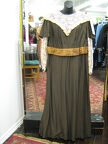 1910 gown brown with gold sash