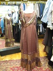 1920 gown brown & gold