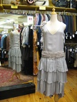 Flapper silver tiered skirt