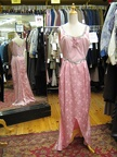 1930's gown pink & silver