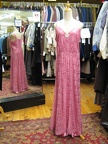 1930's gown pink lace