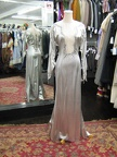1930s gown silver stretch