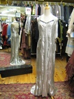 1930's gown silver