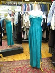 1930's gown turquoise