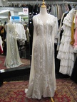 1930's gown white & silver