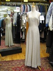 1930's gown white sequin