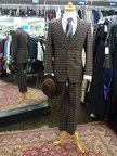 Gangster 3-piece Suit brown check