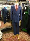 Gangster Suit blue with red pinstripe