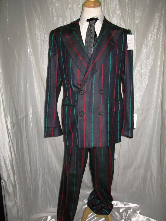Gangster Suit grey with red & green stripe.JPG