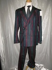 Gangster Suit grey with red & green stripe