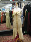 1940's gown gold tear-away