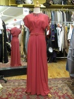 1940's gown long salmon