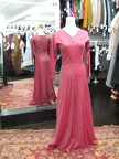 1940's gown red & silver