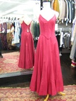 1940's gown red fitted bodice