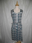 1950's dress blue Plaid