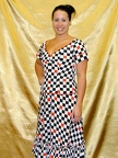1950s dress checkerboard