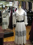 1950's dress cotton b&w