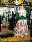 1950's dress floral with green trim