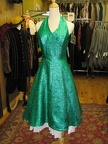 1950's dress green halter sparkly
