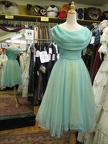 1950's Dress Prom aqua chiffon