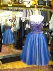 1950's dress Prom blue tones