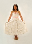 1950's dress Prom white & pink