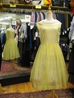 1950's dress yellow voile