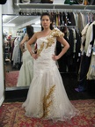 1950's Formal gown Cream & gold