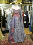 1950's Formal gown grey & pink