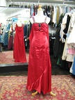 1950's Formal gown long red