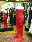 1950's Formal Gown Red Strapless