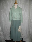 1950's Poodle skirt green