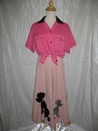 1950's Poodle skirt pale pink