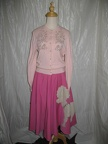 1950's Poodle skirt Pink